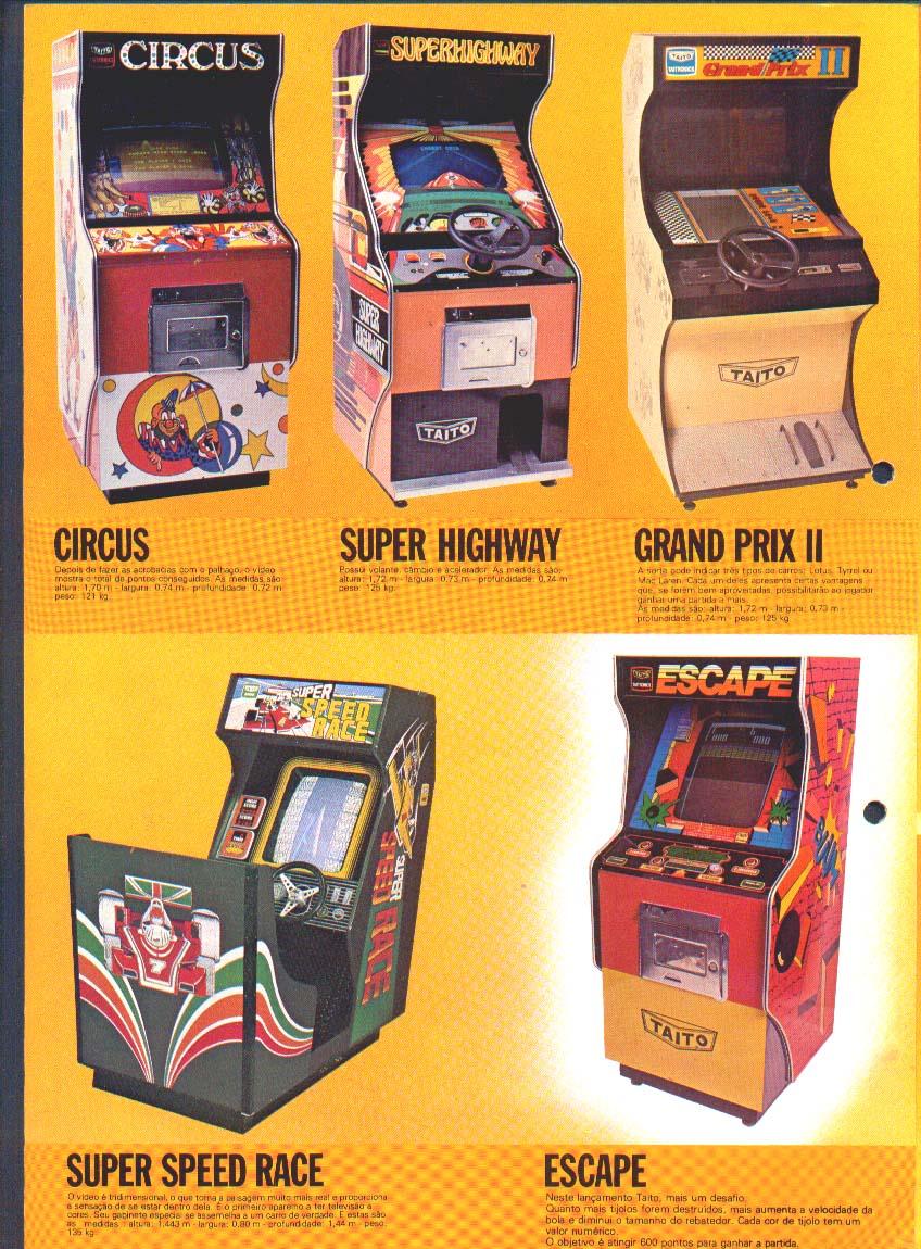 Los Juegos Arcade De Taito Brasil En Mexico Arcades Mx